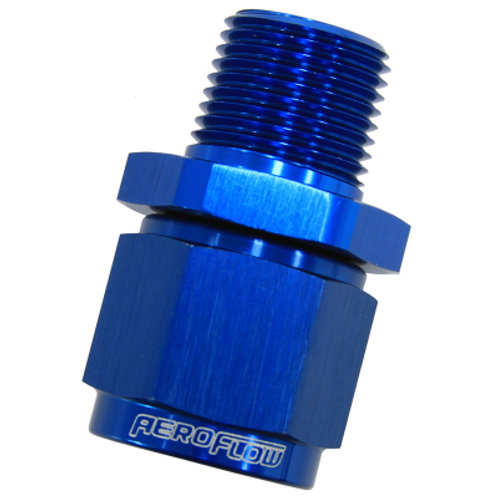 """AEROFLOW Male NPT to Female AN Straight Fitting 3/4"""" to -12AN"""