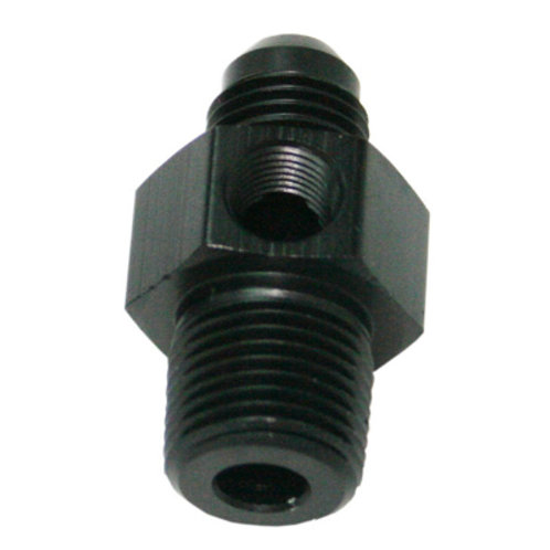 """AEROFLOW Male NPT to Adapter 1/8"""" to -4AN with 1/8"""" Port"""