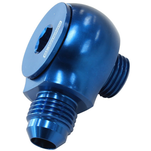 AEROFLOW 90 Deg Low Profile -10ORB to -6AN Male Adapter
