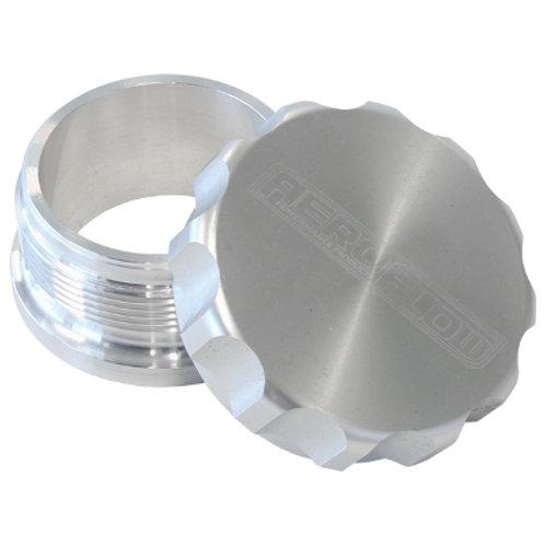 """AEROFLOW 1-1/2"""" Billet Aluminium Weld-On Filler with Sliver Cap"""