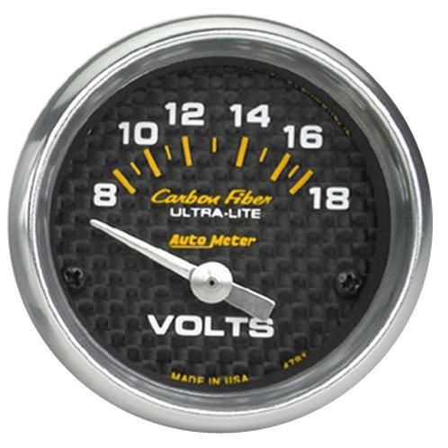 AUTOMETER Carbon Fibre Series Voltmeter Gauge