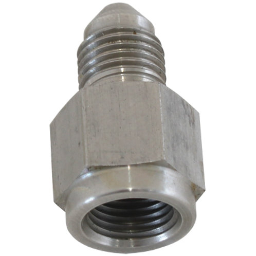 """AEROFLOW Straight Female NPT to Male AN Adapter 1/8"""" to -3AN"""