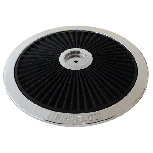 AEROFLOW Chrome Full Flow Air Filter Top Plate
