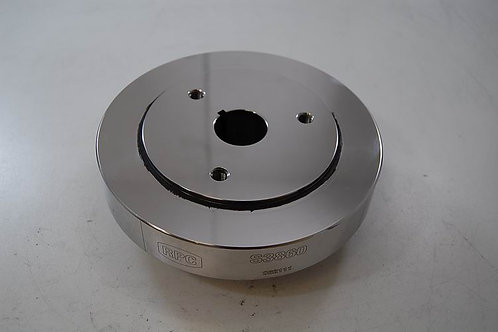 """RPC Chev 6.75"""" Polished Stainless Steel Damper"""