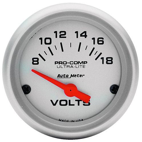 AUTOMETER Ultra-Lite Series Voltmeter Gauge