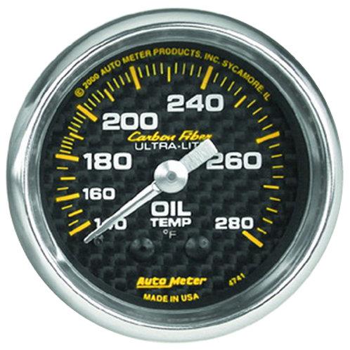 AUTOMETER Carbon Fibre Series Oil Temperature Gauge