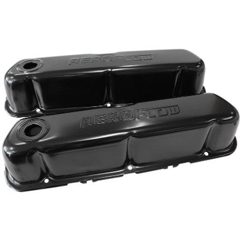 AEROFLOW SB Ford Black Steel Valve Covers