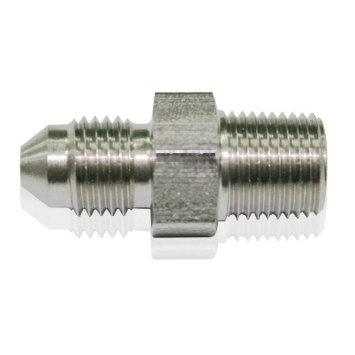 "AEROFLOW Stainless Steel NPT Male to AN Fitting 1/4"" to -4AN"