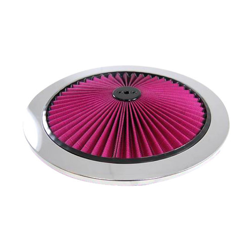 """RPC 14"""" Chrome Top Flow Air Cleaner Top"""