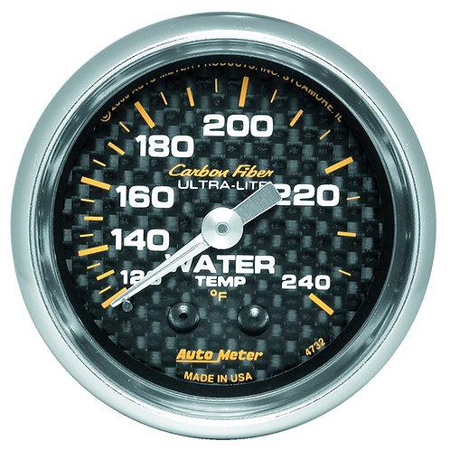AUTOMETER Carbon Fibre Series Water Temperature Gauge