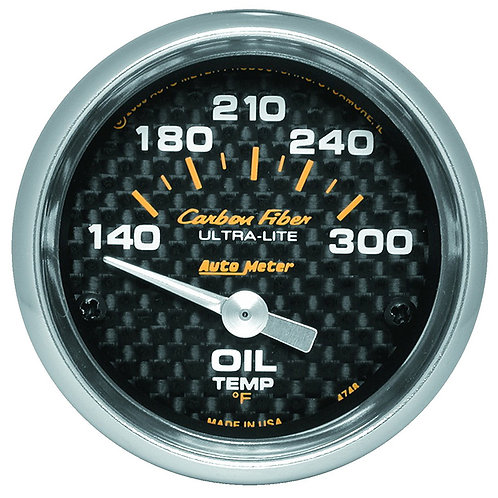 AUTOMETER Carbon Fibre Series Oil Temperature Gauge
