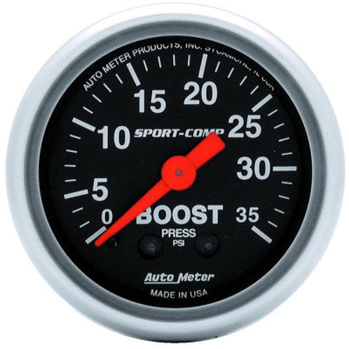 AUTOMETER Sport-Comp Series Boost Gauge