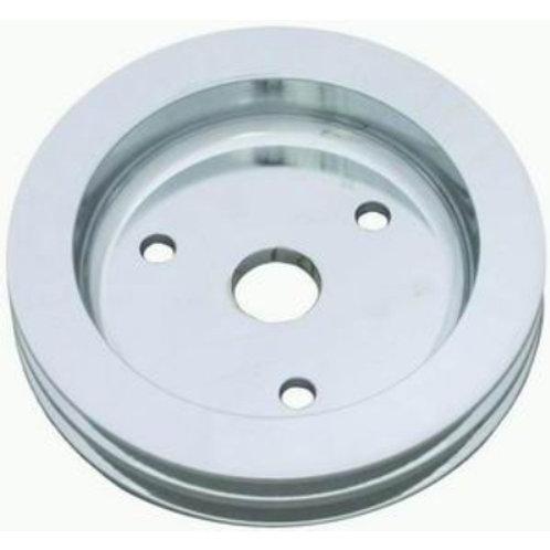 RPC SBC Polished Aluminium Crankshaft Lower Pulley