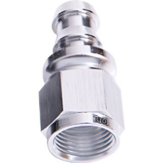 AEROFLOW 400 Series Push Lock Straight Hose End -6AN