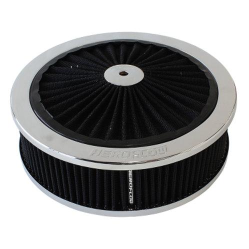 """AEROFLOW Chrome Air Filter Assembly 9"""" x 2-3/4"""""""