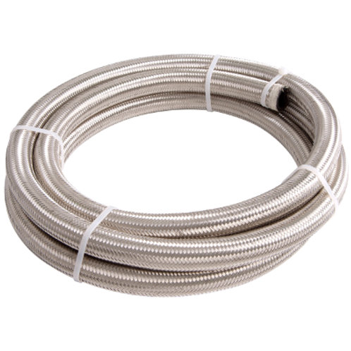 AEROFLOW 100 Series Braided Stainless Steel Rubber lined Hose -8AN