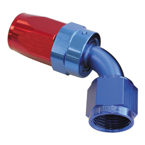 AEROFLOW 100 Series Swivel 60 Deg Hose End -4AN