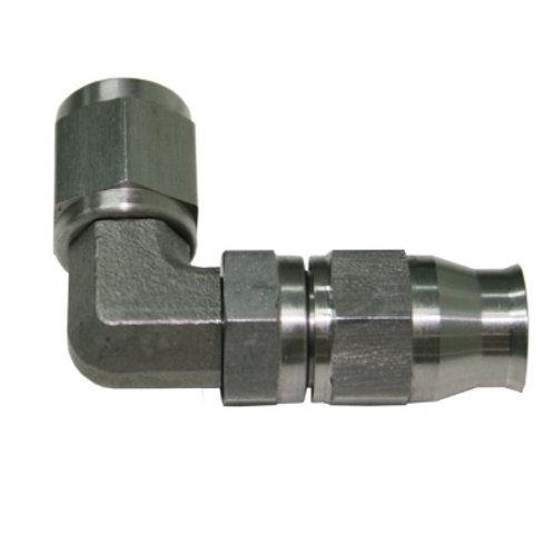 AEROFLOW 200 Series Steel 90 Deg Hose End -6AN