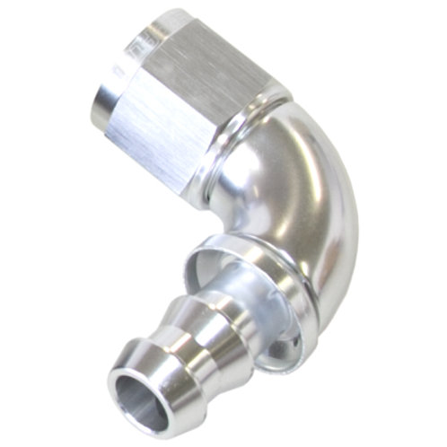 AEROFLOW Full Flow Push Lock 90 Deg Hose End -8AN