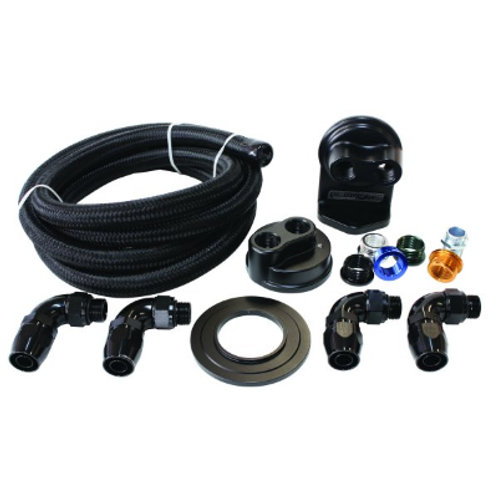 AEROFLOW Single Billet Oil Filter Remote Mount Kit