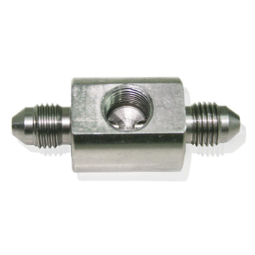 """AEROFLOW Stainless Steel Male Flare Union -3AN with 1/8"""" NPT Port"""