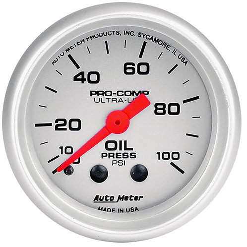 AUTOMETER Ultra-Lite Series Oil Pressure Gauge
