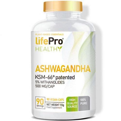 LIFE PRO ASHWAGANDHA 500MG KSM66 90 VCAPS NEW