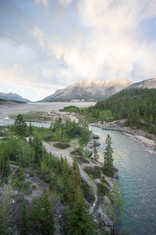 Cline River & Abraham lake