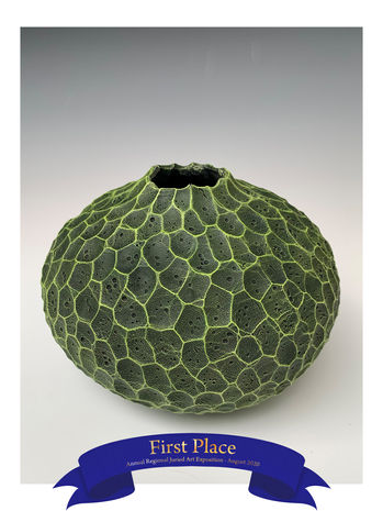 Rick Cannon - Carved Green Geode