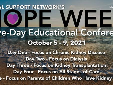 October 5 - 9 RSN's Hope Week