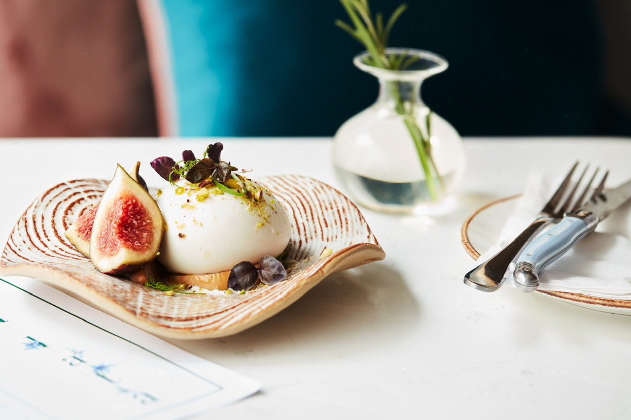 Burrata with fig