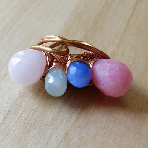jade & aquamarine ring
