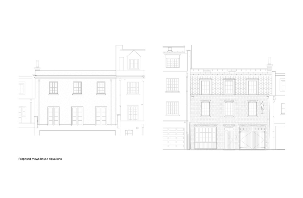 Proposed Front and Rear Elevation