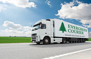 Evergreen Courier branded truck.