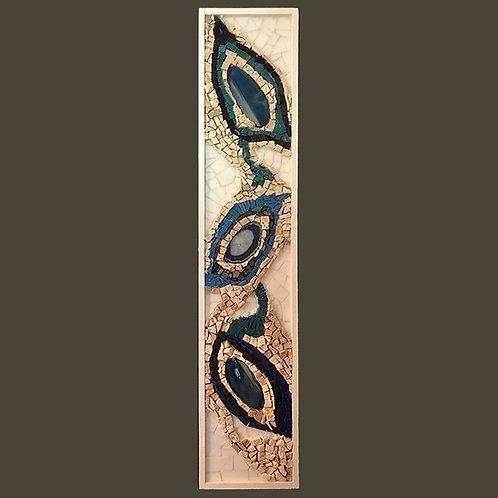 """Agate Eyes""  Wall Mosaic"