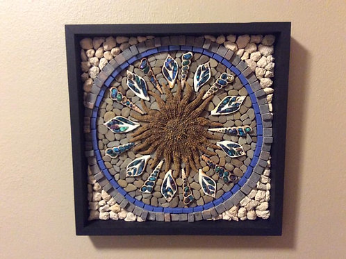 Sun Fish Star Fish Mosaic