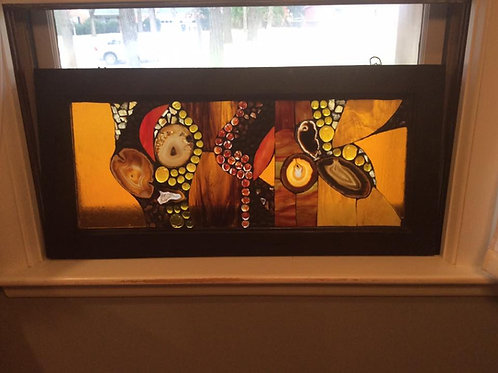 """""""Golden Horizons"""" Stained Glass Window Mosaic"""