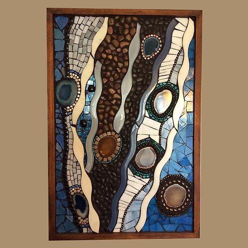 """""""Agate River"""" Wall Mosaic"""