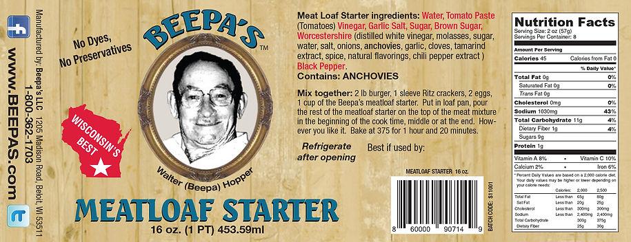 Beepa's-Meatloaf Starter-6.5x2.5-Proof 1