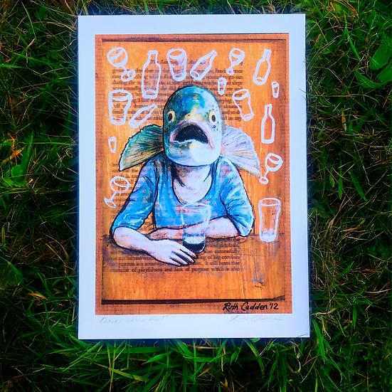 Drinks Like a Fish | Fine Art Print