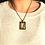 Thumbnail: The Last Grace I Fine Art Glass Pendant Necklace I Rectangle