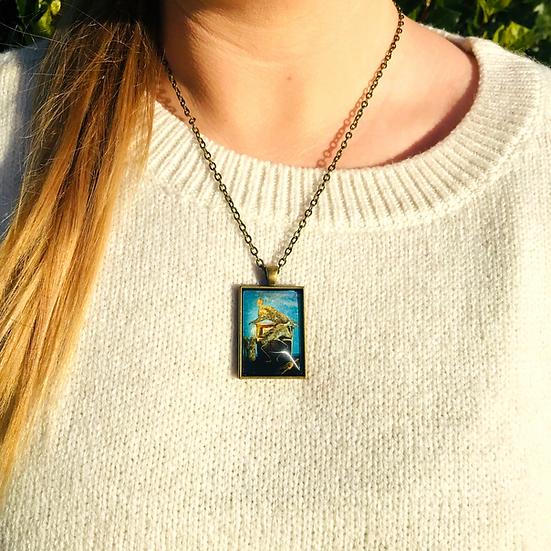 No Sailors Today I Fine Art Glass Pendant Necklace