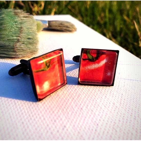 Tomatoes | Fine Art Glass Cufflinks