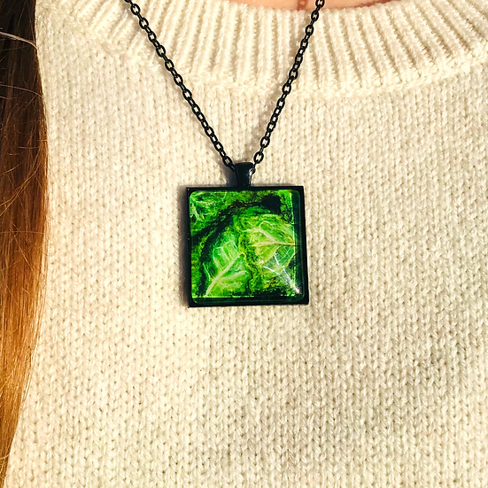 Green Cabbage | Fine Art Glass Pendant Necklace