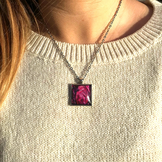 Red Cabbage | Fine Art Glass Pendant Necklace