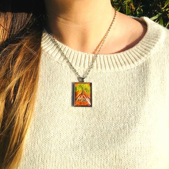 Carrots | Fine Art Glass Pendant Necklace