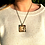 Thumbnail: The Last Grace I Fine Art Glass Pendant Necklace I Big Square