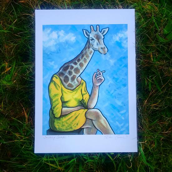 Smoking Giraffe | Fine Art Print