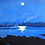 Thumbnail: Moonlight on Galway Bay I Fine Art Glass Pendant Necklace I Rectangle