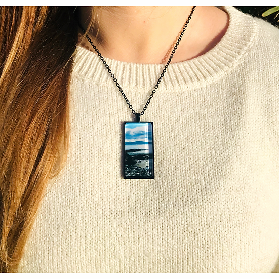 Spiddal Prom View I Fine Art Glass Pendant Necklace